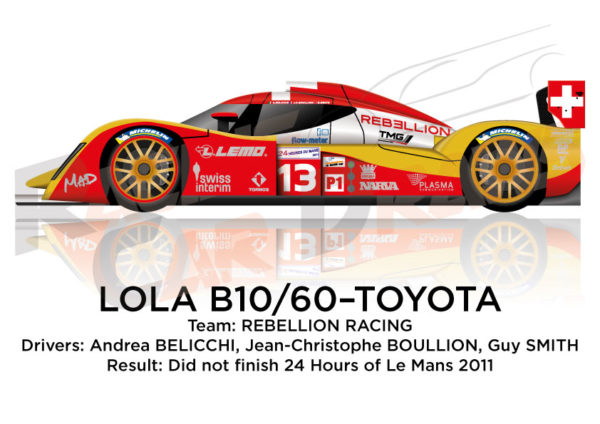 Lola B10/60 - Toyota n.13 did not finish 24 Hours of Le Mans 2011