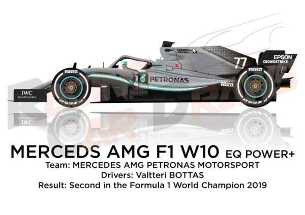 Mercedes F1 W10 EQ Power+ n.77 Formula 1 World Champion 2019