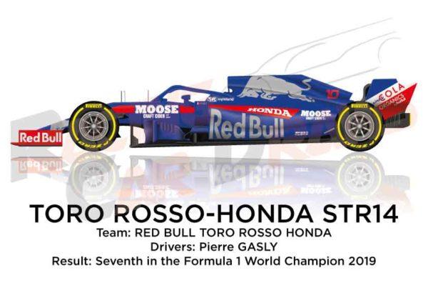 Toro Rosso - Honda STR14 n.10 seventh in the Formula 1 2019