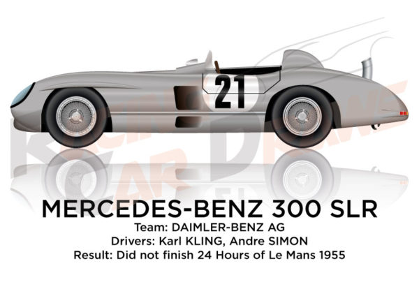 Mercedes-Benz 300 SLR n.21 did not finish 24 Hours of Le Mans 1955