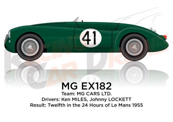 MG EX182 n.41 twelfth 24 Hours of Le Mans 1955