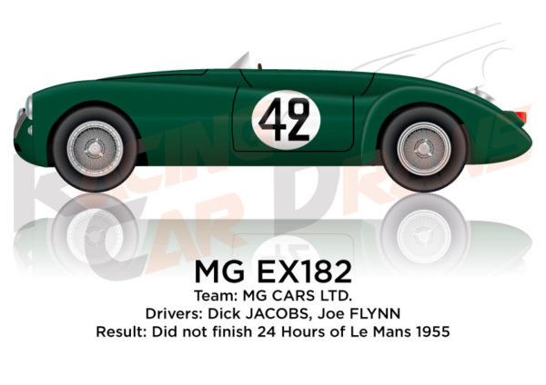 MG EX182 n.42 did not finish 24 Hours of Le Mans 1955