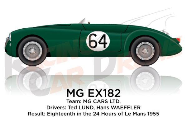 MG EX182 n.64 eighteenth 24 Hours of Le Mans 1955
