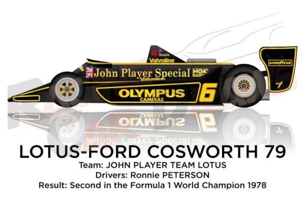 Lotus - Ford Cosworth 79 n.6 second Formula 1 World Champion 1978
