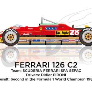 Ferrari 126 C2 n.28 Formula 1 World Champion 1982 with Pironi