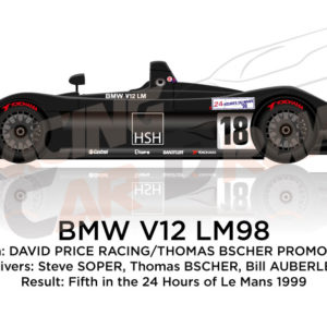 BMW V12 LM98 n.18 fifth at the 24 Hours of Le Mans 1999