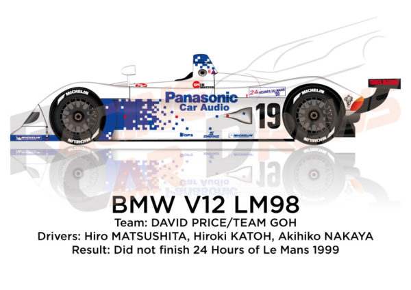BMW V12 LM98 n.19 did not finish 24 Hours of Le Mans 1999