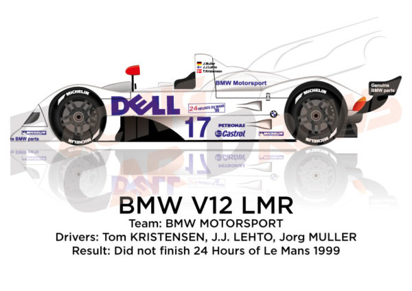BMW V12 LMR n.17 did not finish 24 Hours of Le Mans 1999