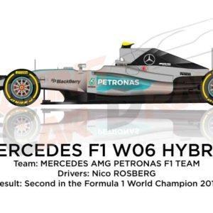 Mercedes F1 W06 Hybrid n.6 second Formula 1 World Champion 2015