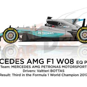 Mercedes F1 W08 EQ Power+ n.77 Formula 1 World Champion 2017