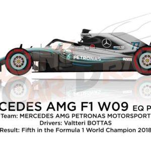 Mercedes F1 W09 EQ Power+ n.77 Formula 1 World Champion 2018