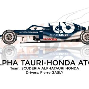 Alpha Tauri - Honda AT02 n.10 Formula 1 World Champion 2021