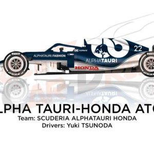 Alpha Tauri - Honda AT02 n.22 Formula 1 World Champion 2021