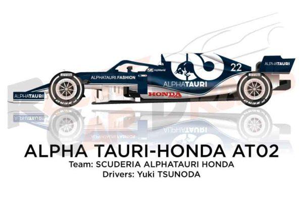 Alpha Tauri - Honda AT02 n.22 Formula 1 World Champion 2021