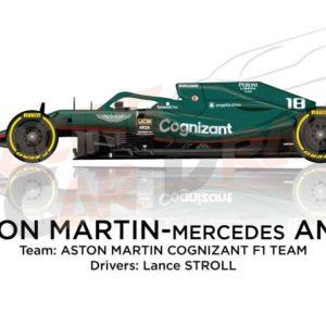 Aston Martin - Mercedes AMR21 n.18 Formula 1 2021
