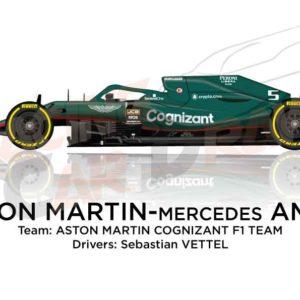 Aston Martin - Mercedes AMR21 n.5 Formula 1 2021