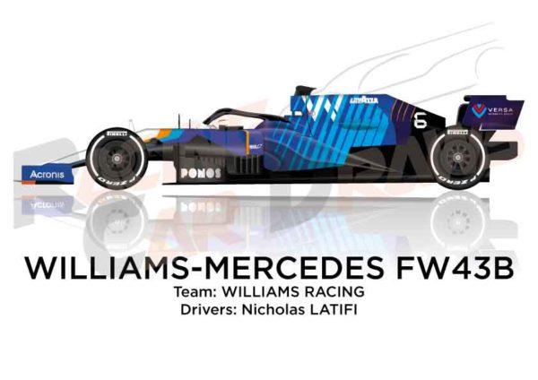 Williams - Mercedes FW43B n.6 Formula 1 2021 driver Nicholas Latifi