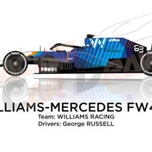 Williams - Mercedes FW43B n.63 Formula 1 2021 driver George Russell