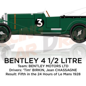 Bentley 4 1/2 Litre n.3 fifth in the 24 Hours of Le Mans 1928