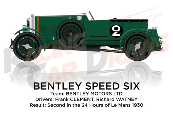 Bentley Speed Six n.2 second 24 Hours of Le Mans 1930