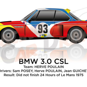 BMW 3.0 CSL n.93 did not finish in the 24 hours of Le Mans 1975