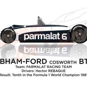 Brabham - Ford Cosworth BT49C n.6 Formula 1 Champion 1981