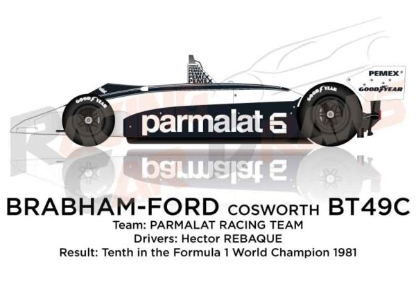 Brabham - Ford Cosworth BT49C n.6 Formula 1 Champion 1981