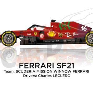 Ferrari SF21 n.16 Formula 1 2021 driver Charle Leclerc