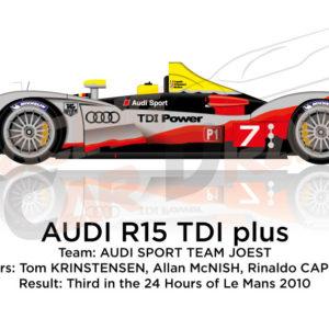 Audi R15 TDI Plus n.7 third in the 24 Hours of Le Mans 2010