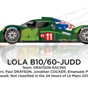 Lola B10/60 - Judd n.11 not classified 24 Hours of Le Mans 2010