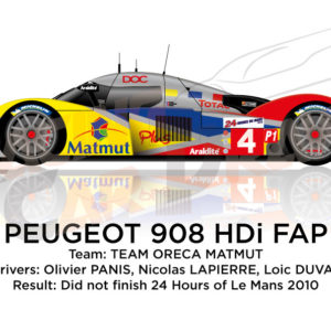 Peugeot 908 HDI FAP n.4 did not finish at 24 Hours of Le Mans 2010