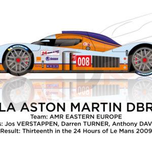 Lola Aston Martin DBR1-2 n.008 thirteenth at 24 Hours of Le Mans 2009