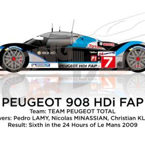 Peugeot 908 HDI FAP n.7 thirteen 24 hours of Le Mans 2009