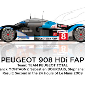 Peugeot 908 HDI FAP n.8 second 24 hours of Le Mans 2009