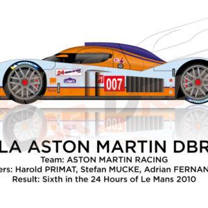 Lola Aston Martin DBR1-2 n.007 sixth at 24 Hours of Le Mans 2010