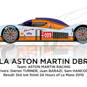 Lola Aston Martin DBR1-2 n.009 at the 24 Hours of Le Mans 2010