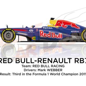 Red Bull - Renault RB7 n.2 thirdd Formula 1 World Champion 2011