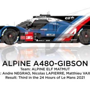 Alpine A480 - Gibson n.36 third in the 24 hours of Le Mans 2021
