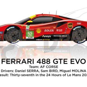 Ferrari 488 GTE EVO n.52 thirty-seventh 24 Hours of Le Mans 2021