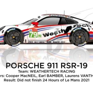Porsche 911 RSR-19 n.79 did not finish 24 Hours of Le Mans 2021