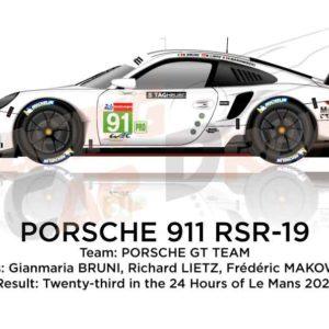 Porsche 911 RSR-19 n.91 twenty-third 24 Hours of Le Mans 2021