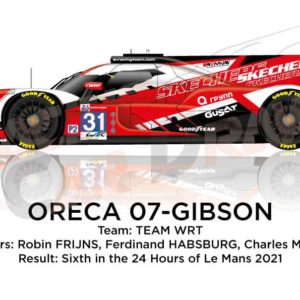 Oreca 07 - Gibson n.31 sixth in the 24 hours of Le Mans 2021