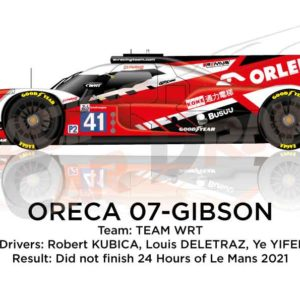 Oreca 07 - Gibson n.41 did not finish in the 24 hours of Le Mans 2021