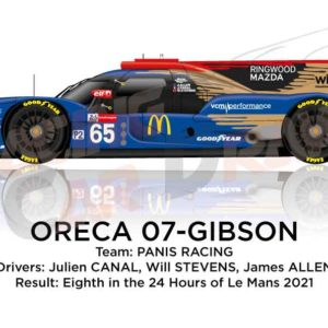 Oreca 07 - Gibson n.65 eighth in the 24 hours of Le Mans 2021